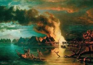 Léon Berthoud: Village lacustre incendié