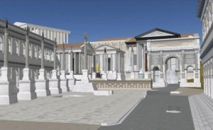 Forum romain dans Google Earth