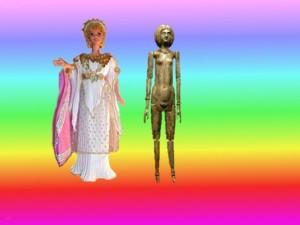 Barbie et poupée romaine de Tivoli