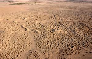 Trous de pillage à Umma, Irak